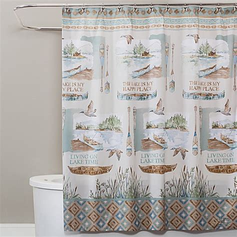 lake shower curtain buy saturday lake house shower curtain from bed