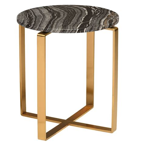 gold and marble end table rosa modern marble side table black brushed gold