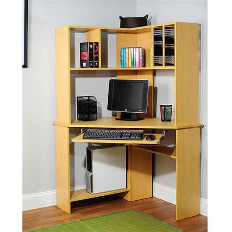 computer desk with hutch walmart morgan computer desk with hutch natural walmart com