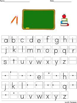 lowercase alphabet practice sheets    grade