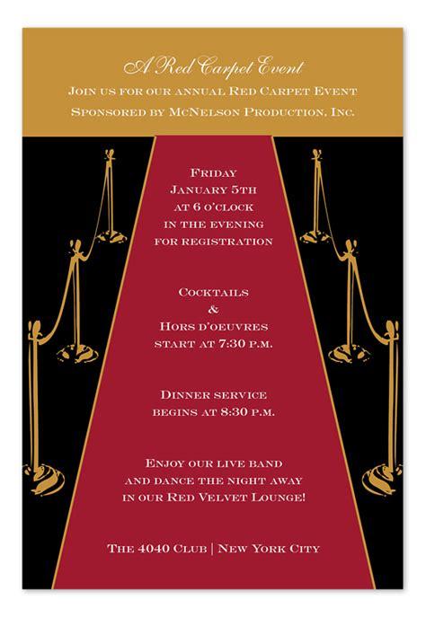 Gold Carpet Birthday Invitations By Invitation