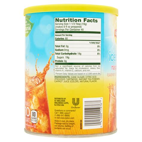Lipton Instant Tea Nutrition Facts Nutrition Ftempo