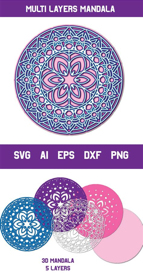 Feb 06, 2021 · 3d layered mandala heart with free svg for galentine's day or valentine's day feel free to share! 3d Mandala, Multi Layer SVG, Cut File (560968) | Cut Files ...