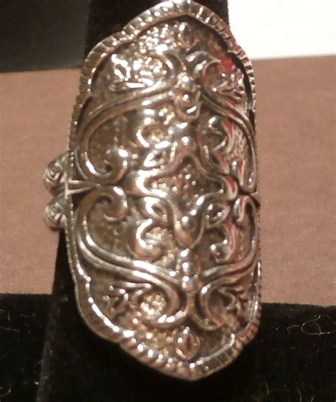 silpada sterling silver helen  troy ring size