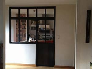 porte coulissante cloison obasinccom With porte de garage coulissante de plus porte intérieure vitrée