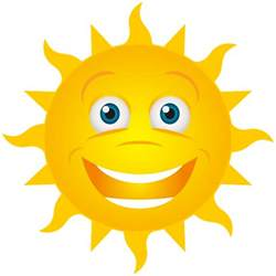 Smiling Sun Clip Art Transparent