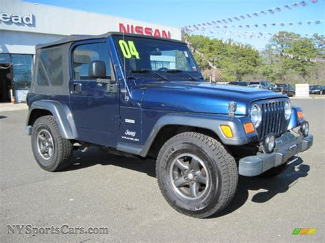 patriot jeep blue 2004 jeep wrangler x 4x4 in patriot blue pearl photo 4