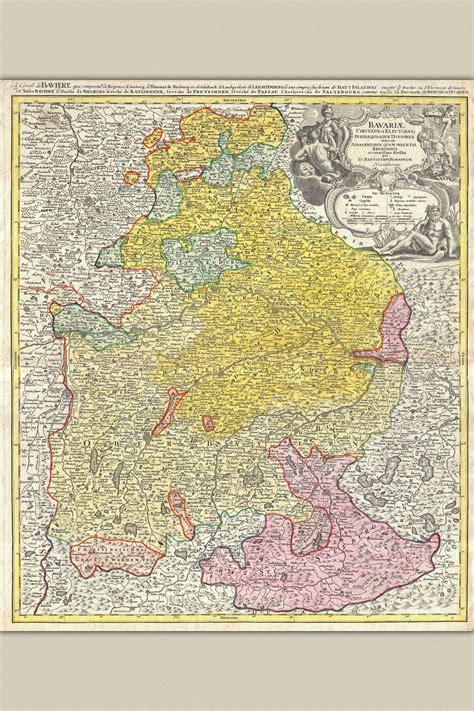 Bavaria Germany; Antique Map by Homann, 1728 | eBay