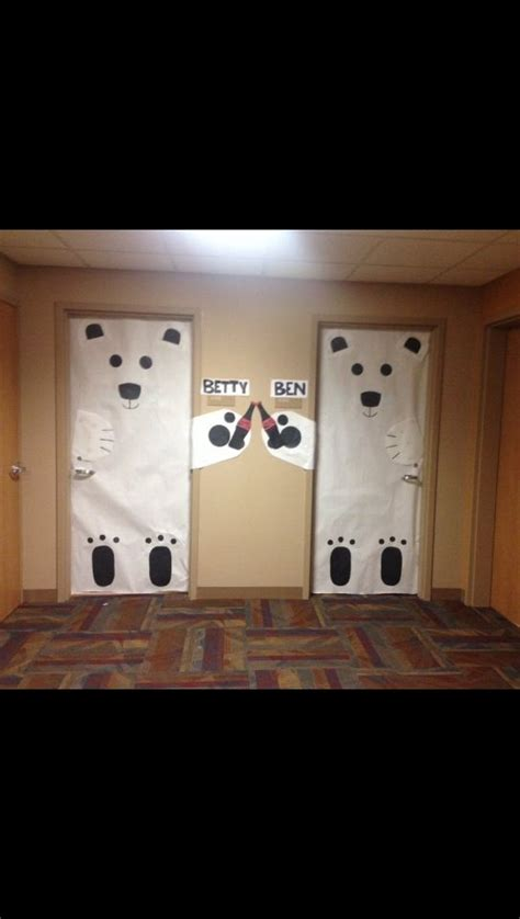 holiday dorm room door decorations polarbears cocacola