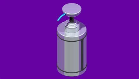 dispense autocad soap dispenser stl solid edge step iges 3d cad