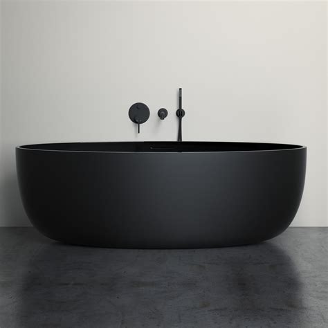 White Bath by Lusso Freestanding Baths Vetrina Resin Bath