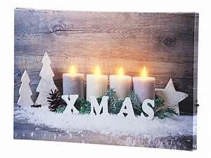 Led Bild Kerzen : infactory led bild wandbild kerzen im schnee mit led beleuchtung 30 x 20 cm led leinwand ~ Frokenaadalensverden.com Haus und Dekorationen
