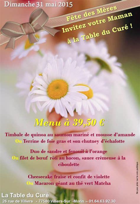 cours de cuisine 92 la table du curé 01 64 63 92 30 fête des mères le