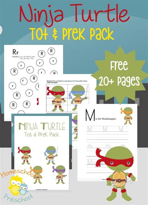 turtles inspired preschool learning pack learning 728 | 575610433f0a88f18f4a5b90152bdd05
