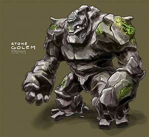 Stone Golem by freakyfir on DeviantArt