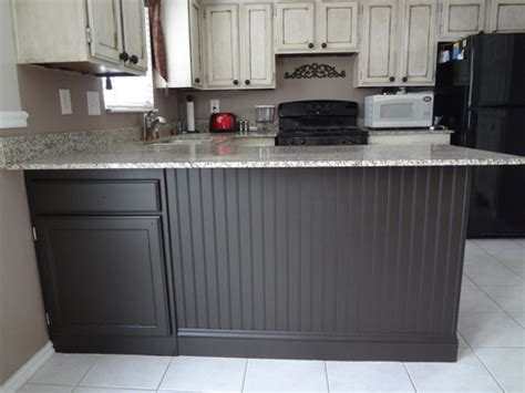 beadboard kitchen island adding beadboard to your kitchen island in our spare time 1534