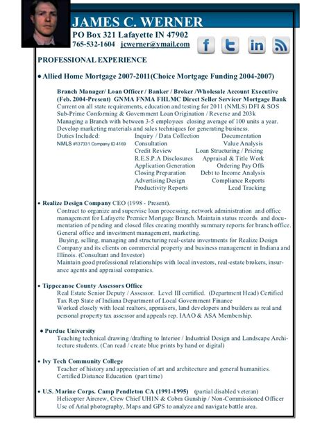 resume format for branch manager mortgage banking branch manager resume
