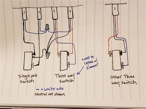 Replacing Way Switch With Dimmer Strange Wiring