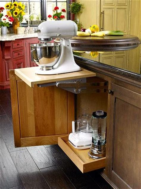 kitchen appliance storage ideas  pinterest