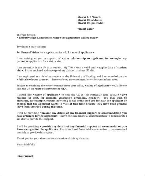 uk visitor visa cover letter sample