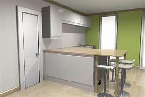 Plan De Travail Pour Bar : plan de travail cuisine avec pied wh01 jornalagora ~ Melissatoandfro.com Idées de Décoration