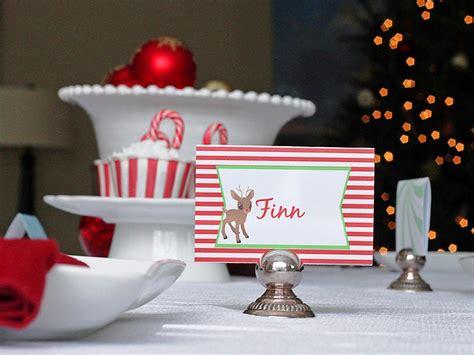 templates  customizable holiday place setting cards diy