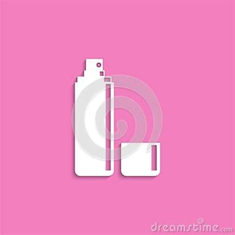 deodorant cosmetic items vector icon white image