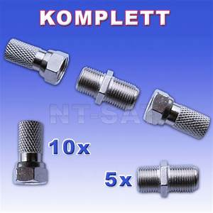 F Stecker Kupplung : 5 komplett kupplung 10x f stecker plus 5x f verbinder ~ Yasmunasinghe.com Haus und Dekorationen