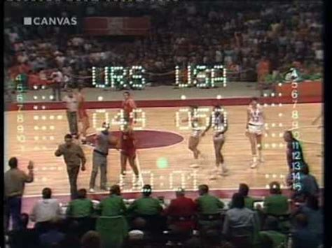 olympic games  drama finale basket usa ussr youtube