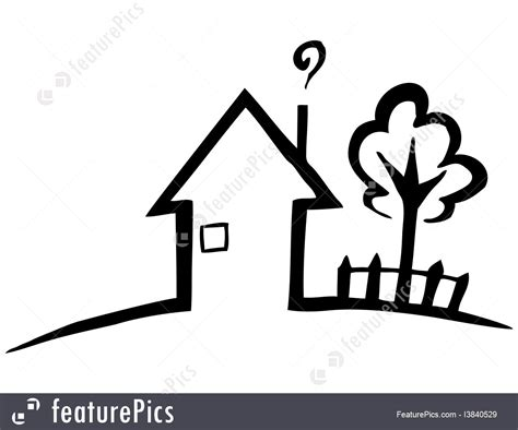 residential architecture small house silhouette stock illustration   featurepics