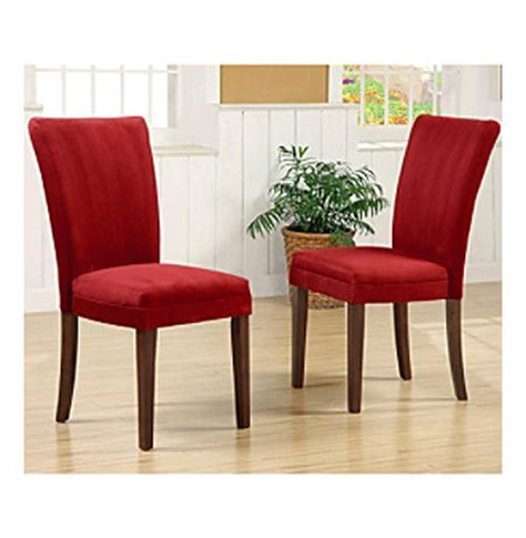 home interior set of 2 upholstered parson dining chairs