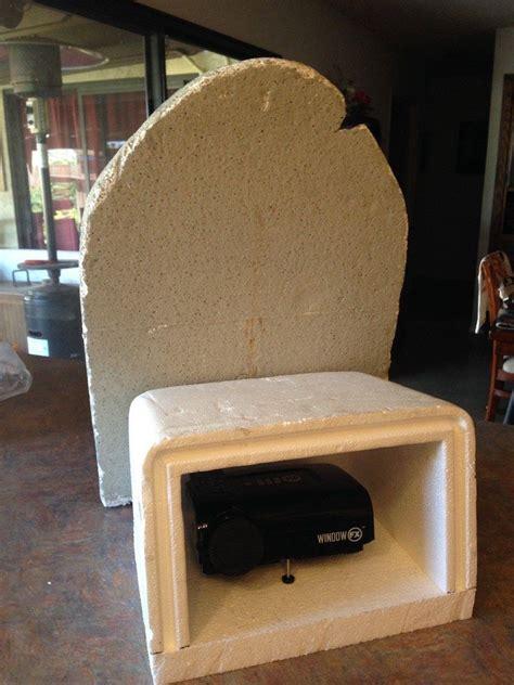 building  projector enclosure  styrofoam halloween