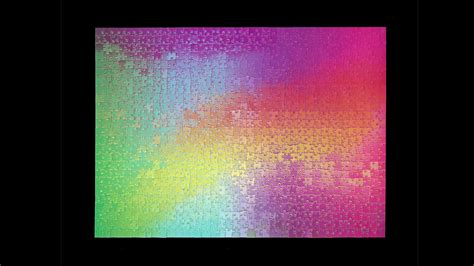 color changing a 1000 color changing jigsaw puzzle boing boing