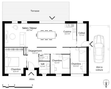 plan maison 7 chambres plan maison 95 m avec 3 chambres ooreka