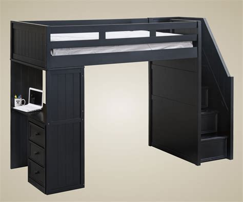 loft bed with desk and storage high resolution loft beds with stairs and desk 9 black