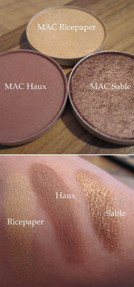 mac eyeshadow combos images  pinterest mac makeup    makeup