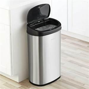 13, Gallon, Trash, Can, Motion, Sensor, Stainless, Steel