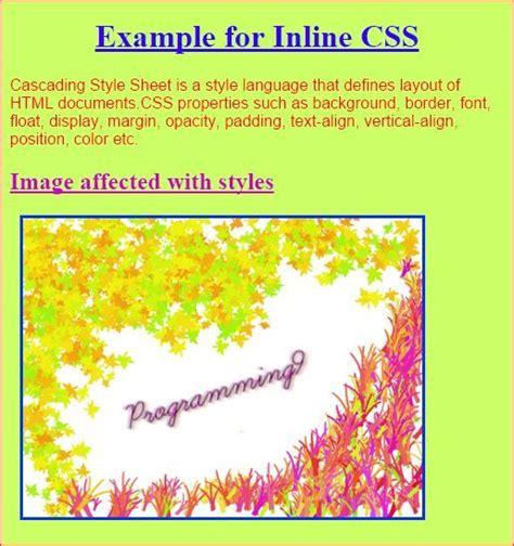 inline css demonstration  working