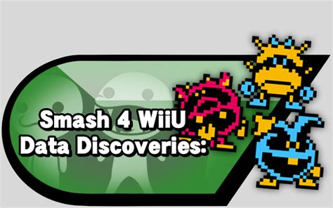 Bros Dada smash 4 wii u data discoveries source gaming