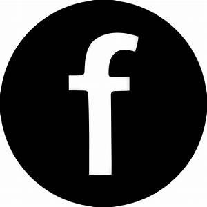 Black Facebook Icon – free icons