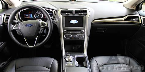 ford fusion 2017 interior 2017 ford fusion se vs hybrid comparison review the