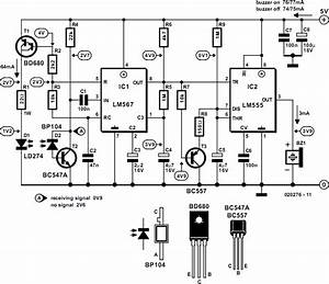 Infrared Motion Detector Circuit