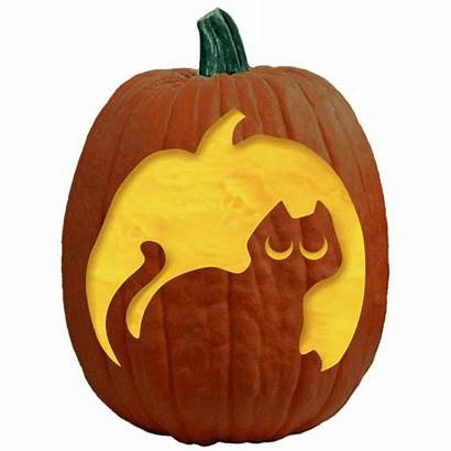 Pumpkin Carving Patterns Lady Witches Cats Cat
