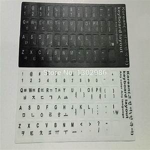 50pcs korean letters alphabet learning korean keyboard With stick on letters for laptop keyboards