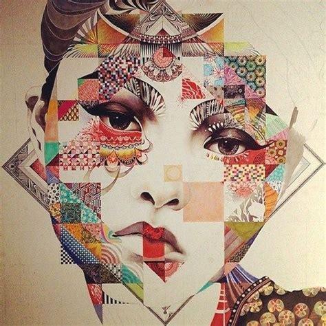 quilted oriental beauty illustrations minjae lee art