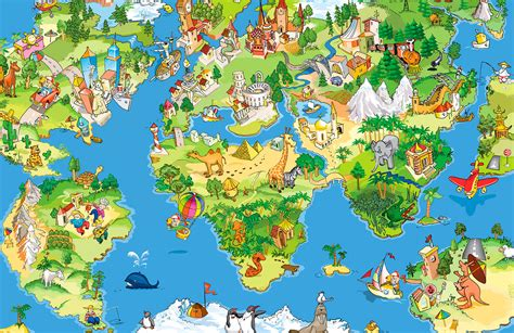 Animal Map Of The World Wallpaper - animal map wallpaper wall mural muralswallpaper co uk