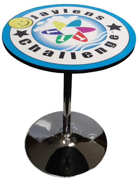 trade show round tables round branded logo tables for trade shows events