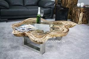 Couchtisch Glas Holz : couchtisch aus einer baumscheibe mit glasplatte der tischonkel ~ Eleganceandgraceweddings.com Haus und Dekorationen