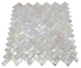 mother of pearl herringbone oyster white backsplash mosaic