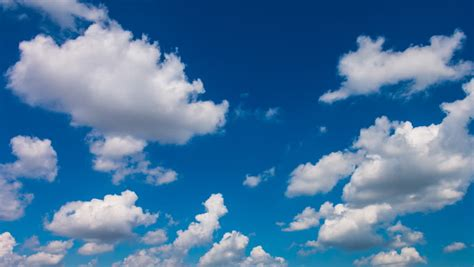 Beautiful Clouds Floating in Blue Stock Footage Video (100 ...